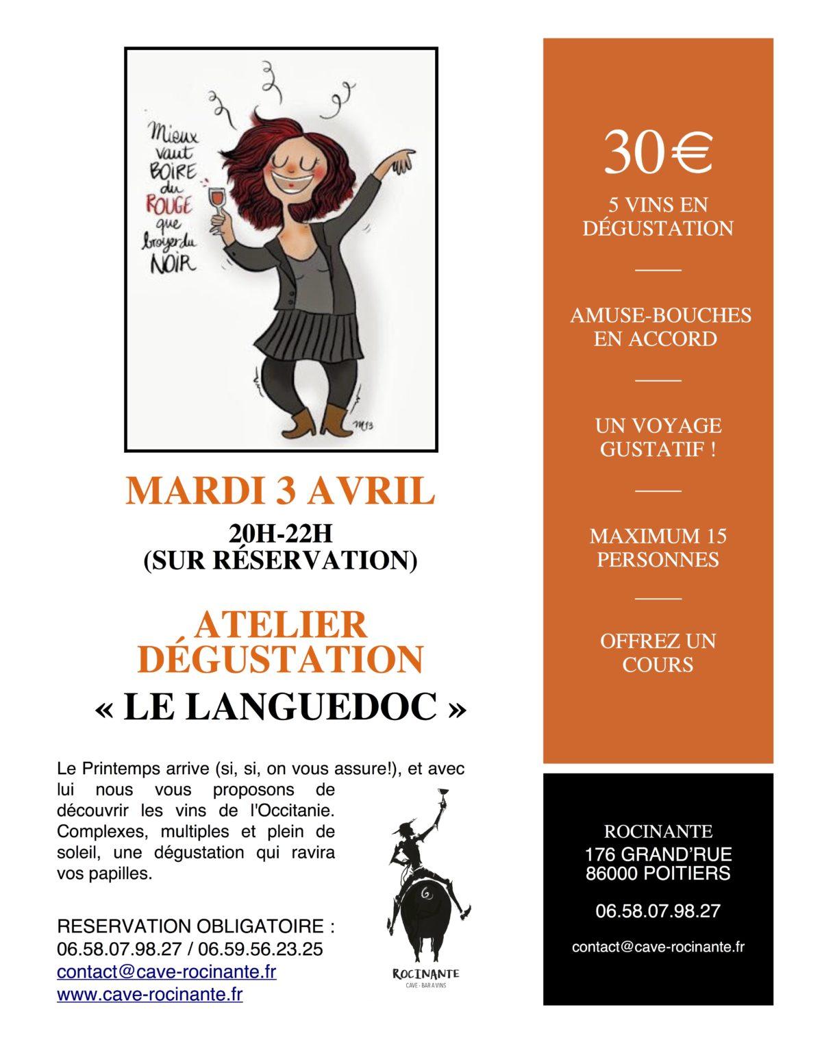 """Atelier Dégustation """"Languedoc"""""""