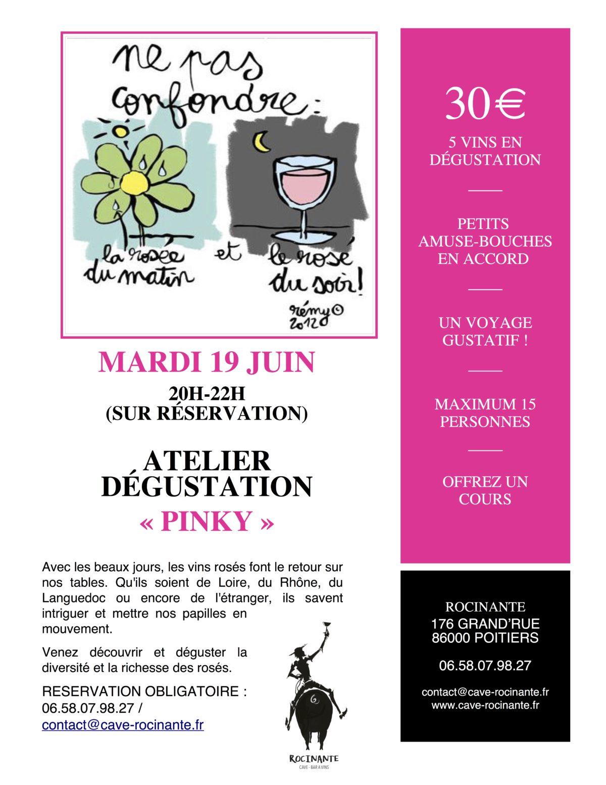 "Atelier Dégustation ""Pinky"""