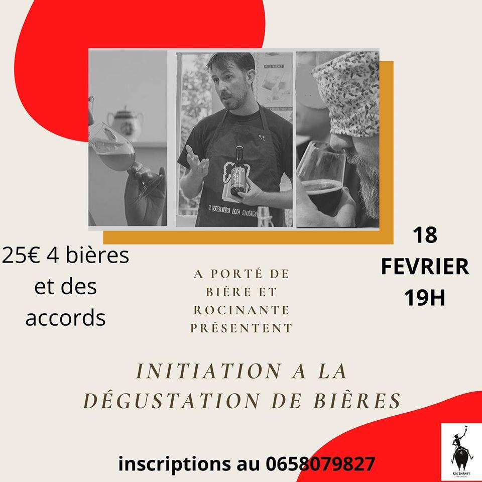 Initiation à la dégustation de bières – 18 février 2020